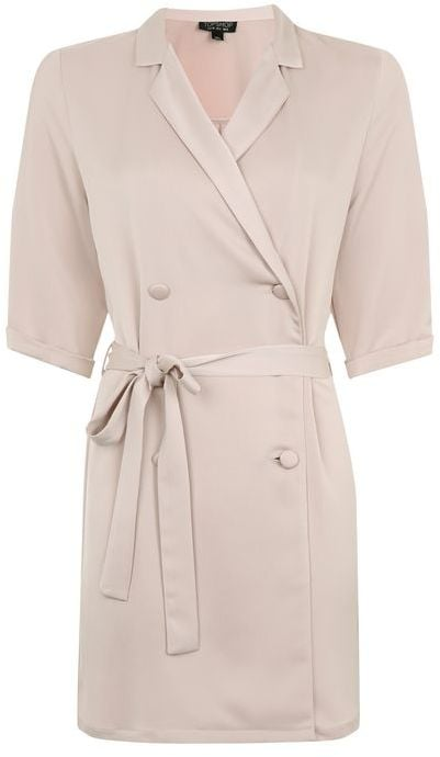 Want to look professional and cute? Wear this satin double-breasted wrap dress ($90).