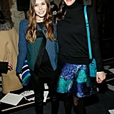 Elizabeth Olsen and Liv Tyler posed together at the Proenza Schouler show in February 2013.