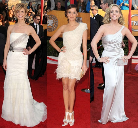 Celebrities in White at the 2010 SAG Awards