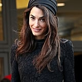 Amal Clooney's Black Lace Dress For Seminary by Pope Francis