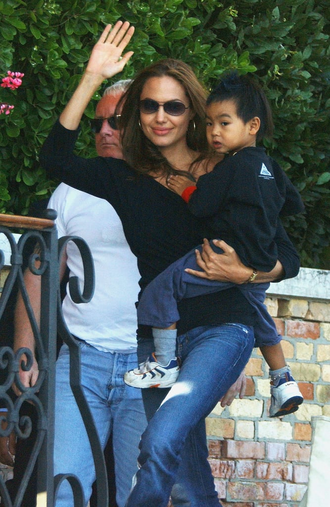 Angelina brought Maddox along with her to the Venice Film Festival in 2004.