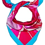 Madison Knight Maya Blue Arden Silk Scarf