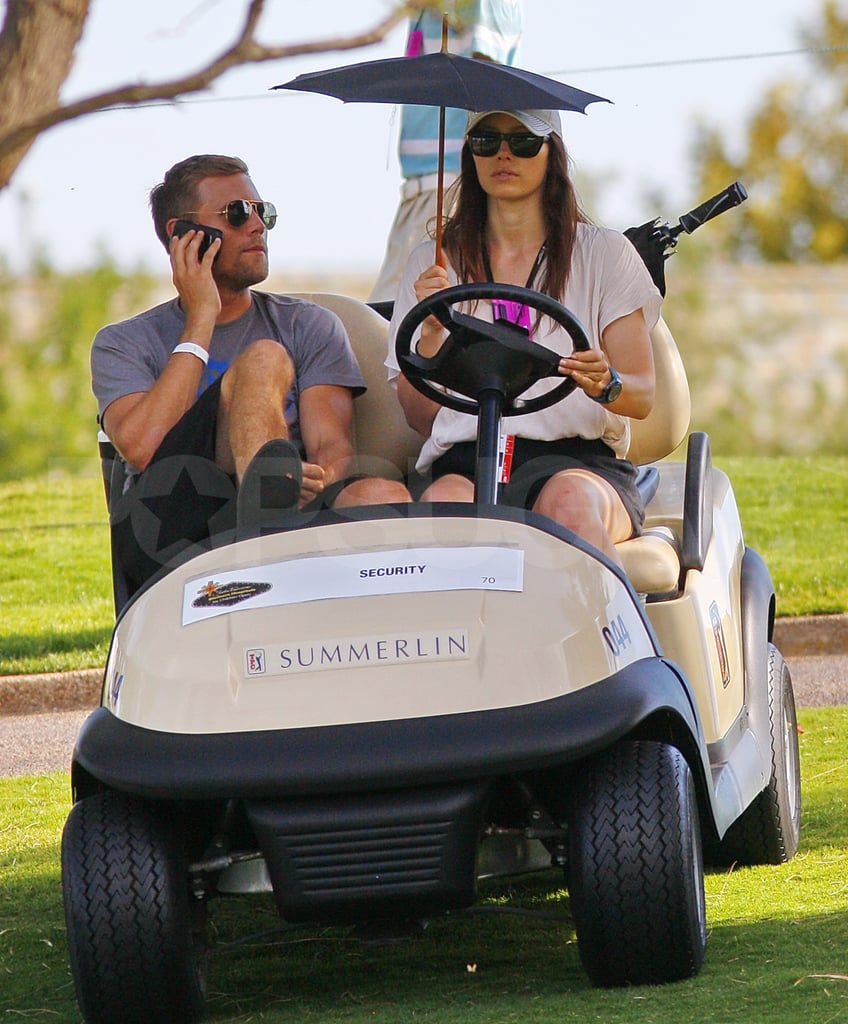 Jessica Biel drove a golf cart in Las Vegas.