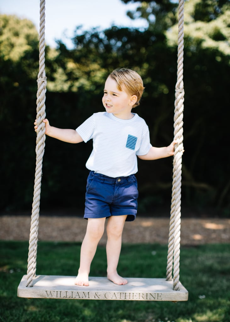 The 3-year-old looked too precious for words in his birthday portraits in July.