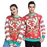 Over-the-Top Ugly Reindeer Sweatshirt