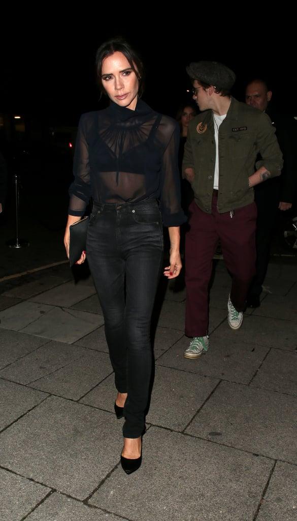 Victoria Beckham Sheer Top December 2018