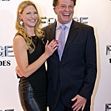 John Noble and Anna Torv smiled at the event.