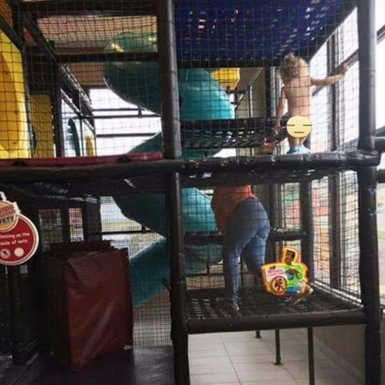 Pregnant Mom Chases Naked Toddler in Burger King Play Area