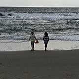 Birdie Silverstein played at the beach with her cousin. Source: Instagram user busyphilipps