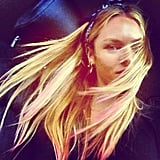Candice Swanepoel channeled Summer ease by getting pink tips in her hair. Source: Instagram user angelcandices