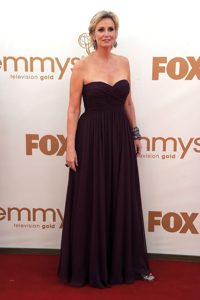 Jane Lynch on the Emmys red carpet.