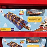 Launching Slinky Dog Dash toy.