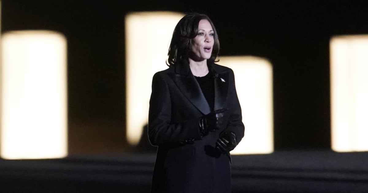 Kamala Harris Wore a Liquid Sequin Cocktail Dress by Yet Another Emerging Black Designer