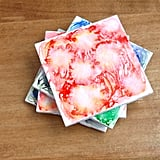 DIY Watercolor Tile Coasters
