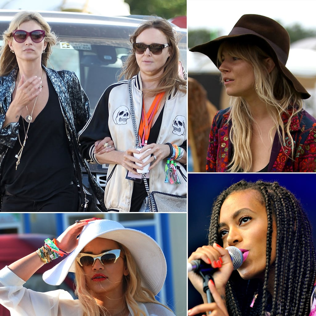 Stars Show Off Laid-Back Beauty at Glastonbury