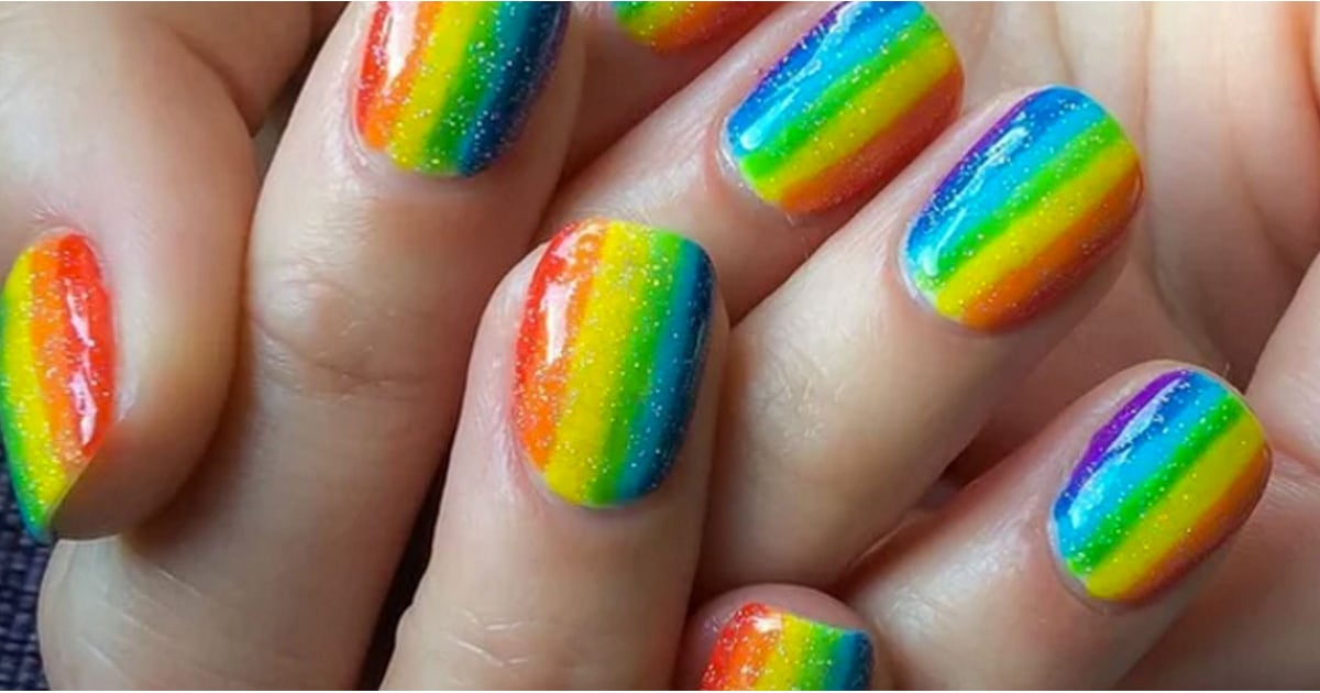 Rainbow Nail Art Ideas - Rainbow Nail Art Ideas POPSUGAR Beauty