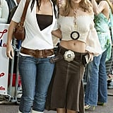 The 2005 Capital FM Awards were another chance for Cheryl and Kimberley to coordinate their looks, this time in lots of beige and brown.