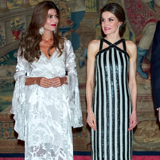 Queen Letizia's Striped Dress February 2017