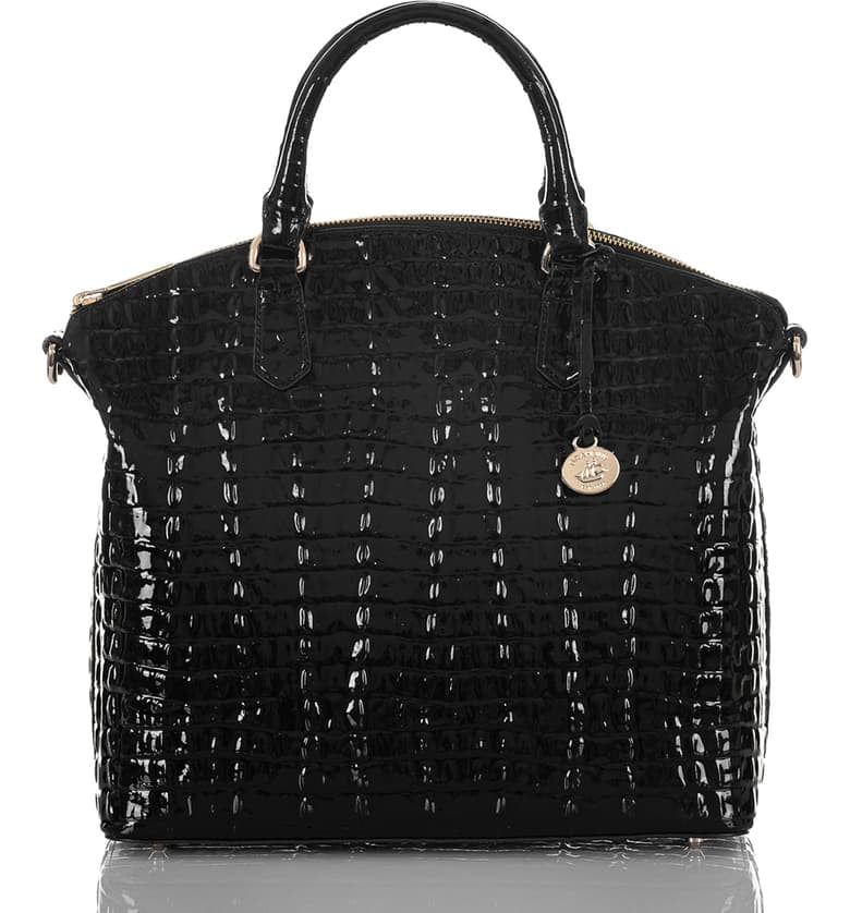 Brahmin Large Duxbury Croc Embossed Patent Leather Satchel