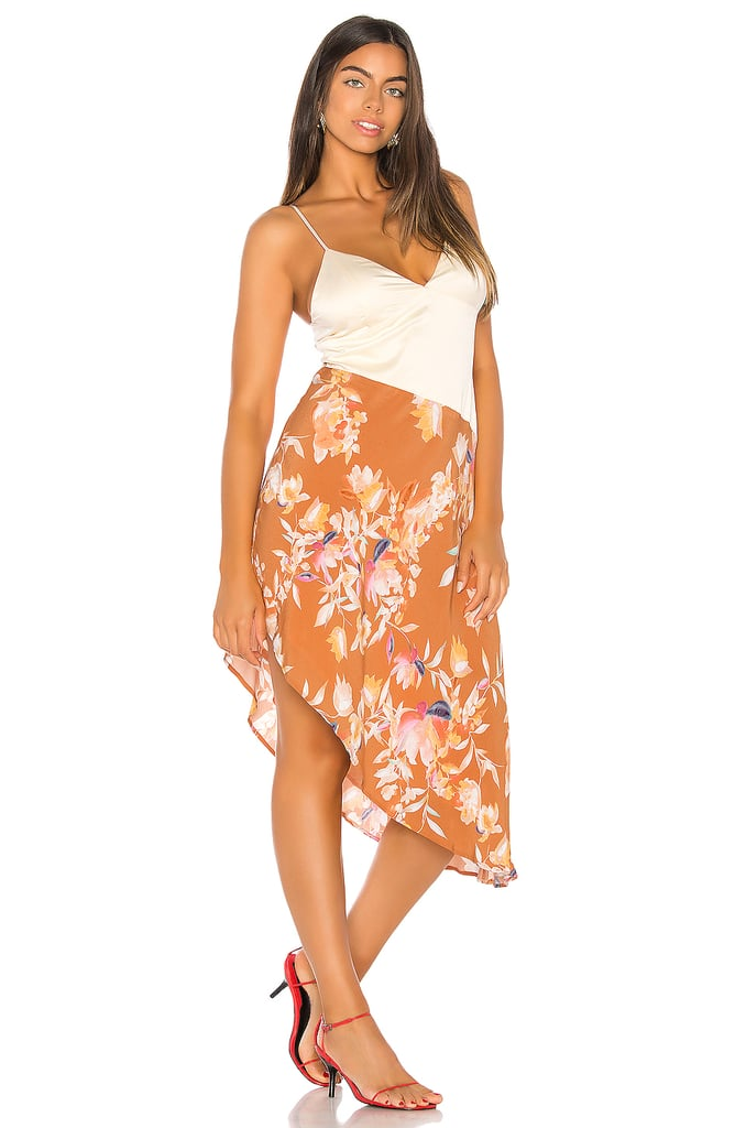 Song of Style Syd Midi Dress in Rust Floral from Revolve.com