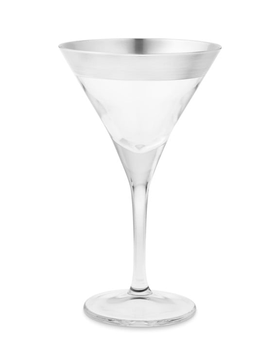 Silver-Banded Martini Glasses