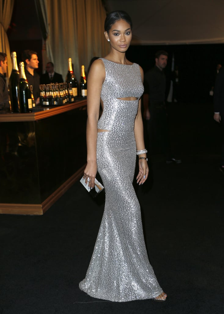 Pictured: Chanel Iman and Golden Globes