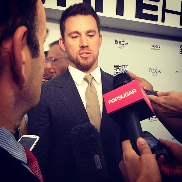 Channing Tatum stopped for a quick chat at the NYC premiere of White House Down.