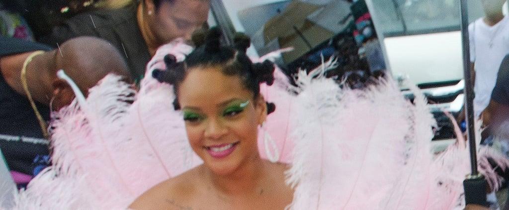 Rihanna's Bantu Knots at Crop Over Festival