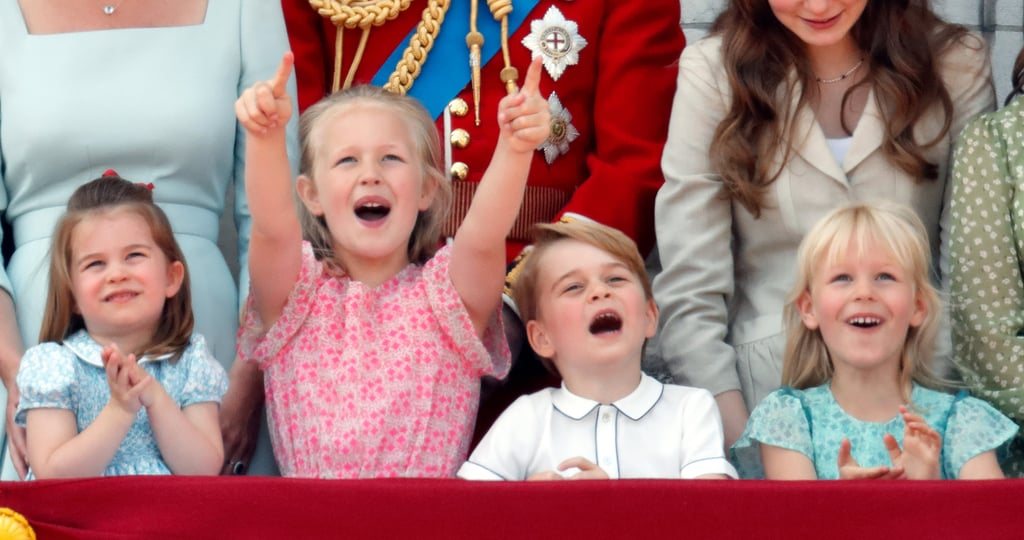 Princess Charlotte, Savannah Phillips, Prince George, and Isla Phillips