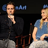 Kristen Bell smiled as Dax Shepard talked about their film.