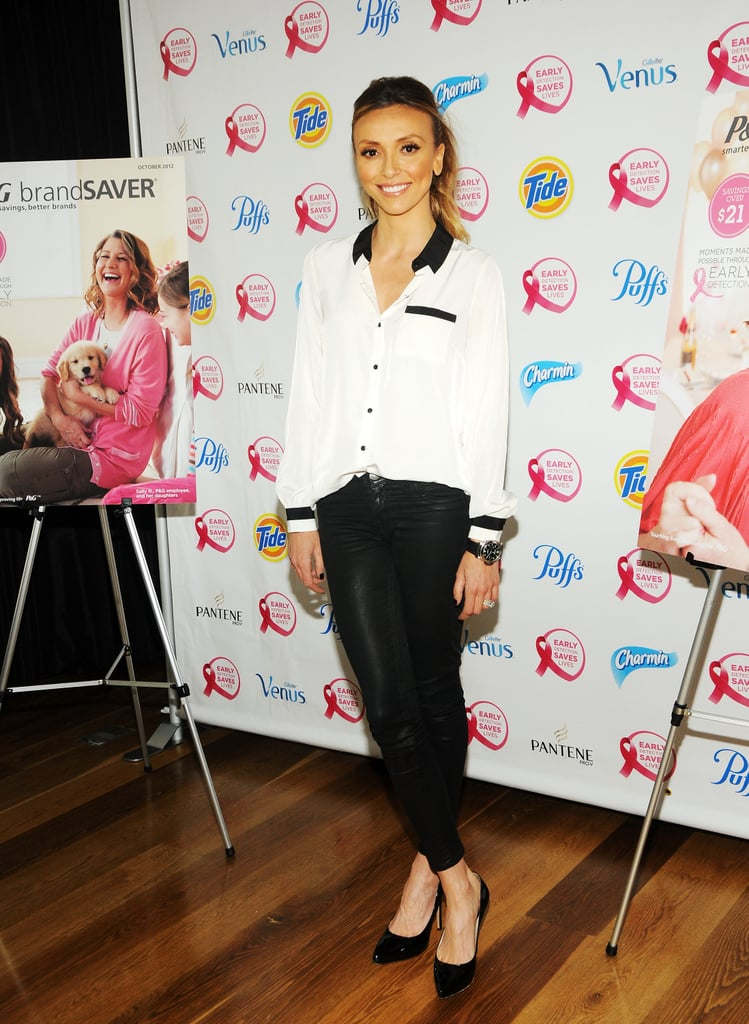 Giuliana Rancic showed a supportive smile at the Do It For the Girls event in NYC in September.