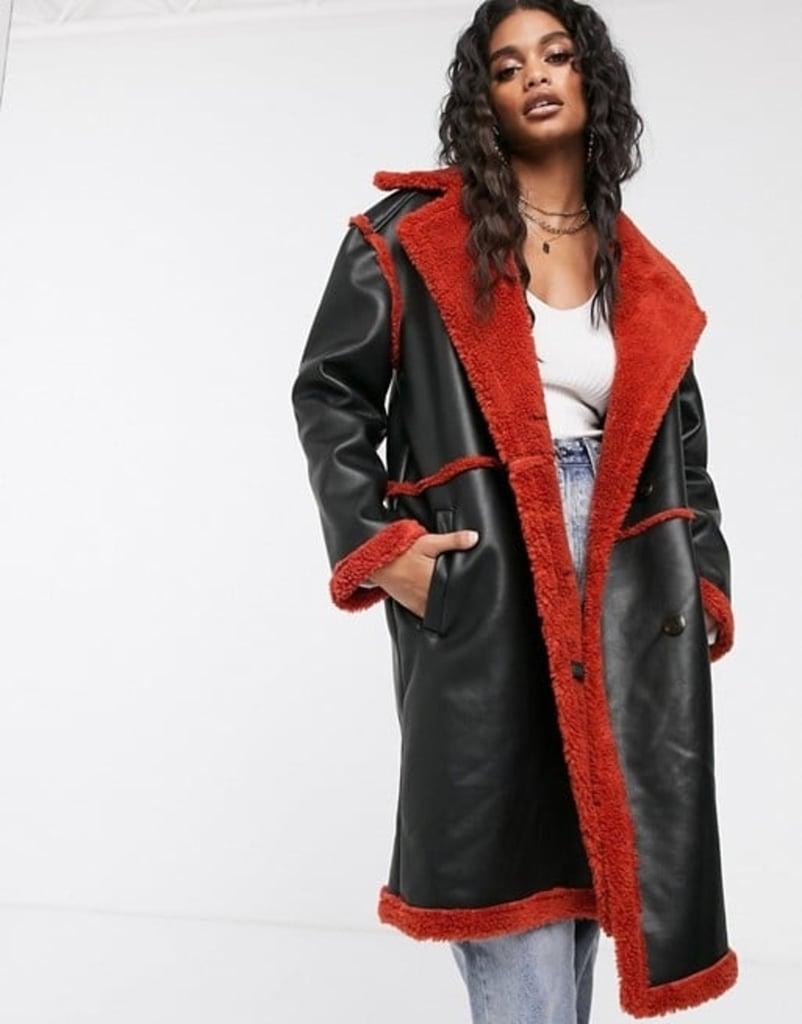 Ivyrevel Faux Fur Teddy Coat in Black
