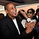 Rihanna and Jay Z were all smiles at the Roc Nation and Three Six Zero brunch.