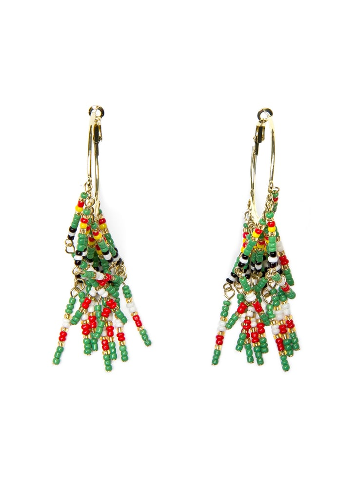 Mango TOUCH Hanging Beads Loop Earrings ($30)