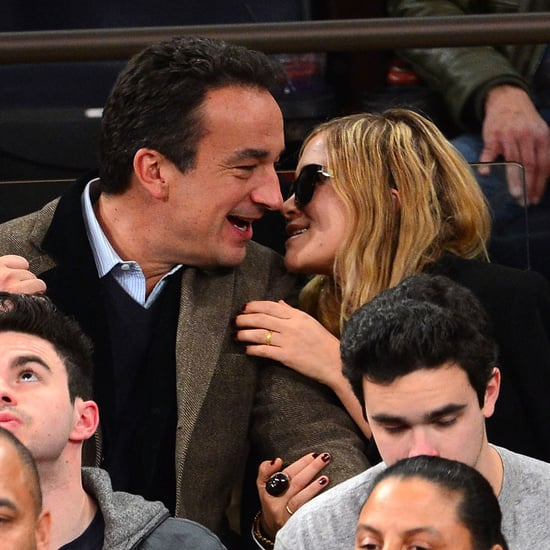 Mary-Kate Olsen and Olivier Sarkozy PDA Pictures at Game