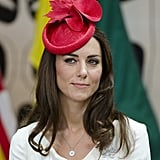 During a visit to Canada in 2011, Kate wore a red fascinator that featured maple leaves, a nod to the North American country.