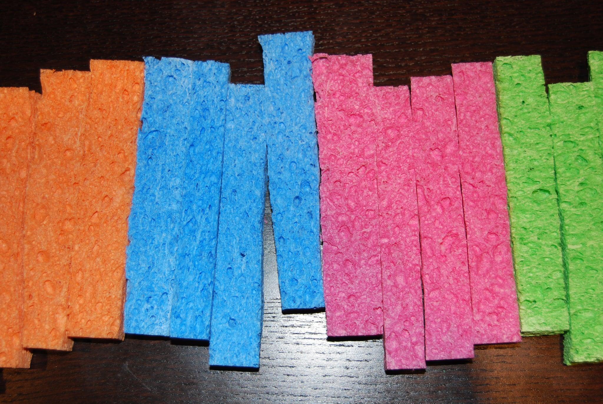 Cut up sponges