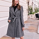 Gal Meets Glam Collection Minicheck Wool Blend Coat