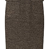 We're obsessed with the cut of this wool pencil skirt; it's got a sexy silhouette and gorgeous texture, not to mention the flirty peplum waist detailing. Burberry Prorsum Textured Wool-Blend Skirt ($995)