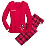 Disney Minnie Mouse Holiday Plaid PJ Set for Women