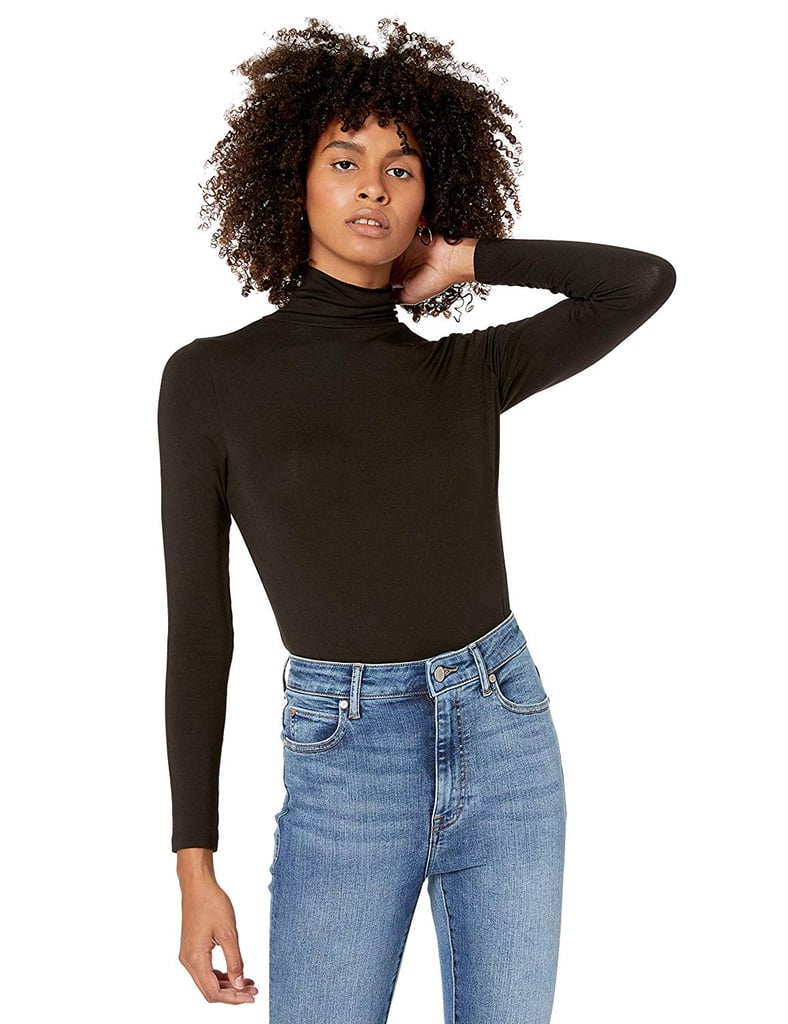 The Drop Women's Phoebe Long-Sleeved Turtleneck Fitted T-Shirt