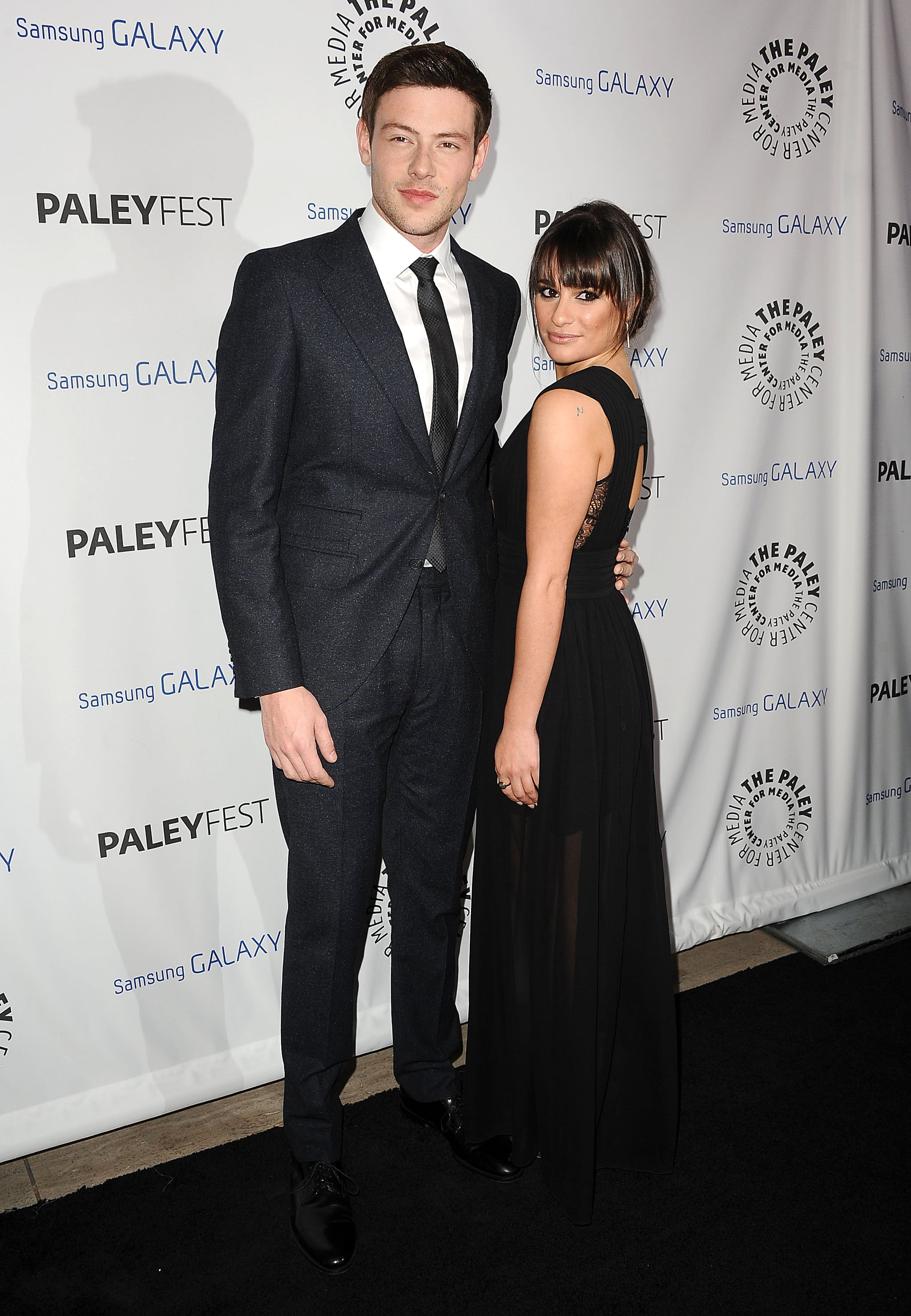 Lea Michele and Cory Monteith walked the red carpet together.