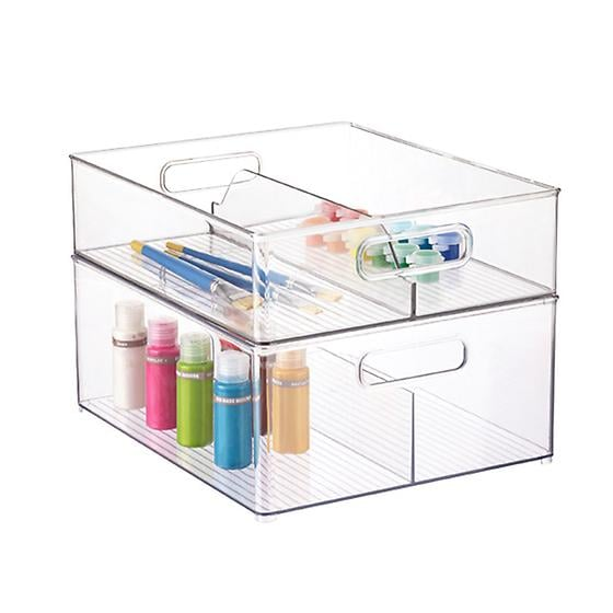 """Favorite organizers: """"I love the Alex drawers from Ikea with smaller containers in each drawer to separate items. I especially love the Linus line from the Container Store (starting at $3) for makeup."""""""