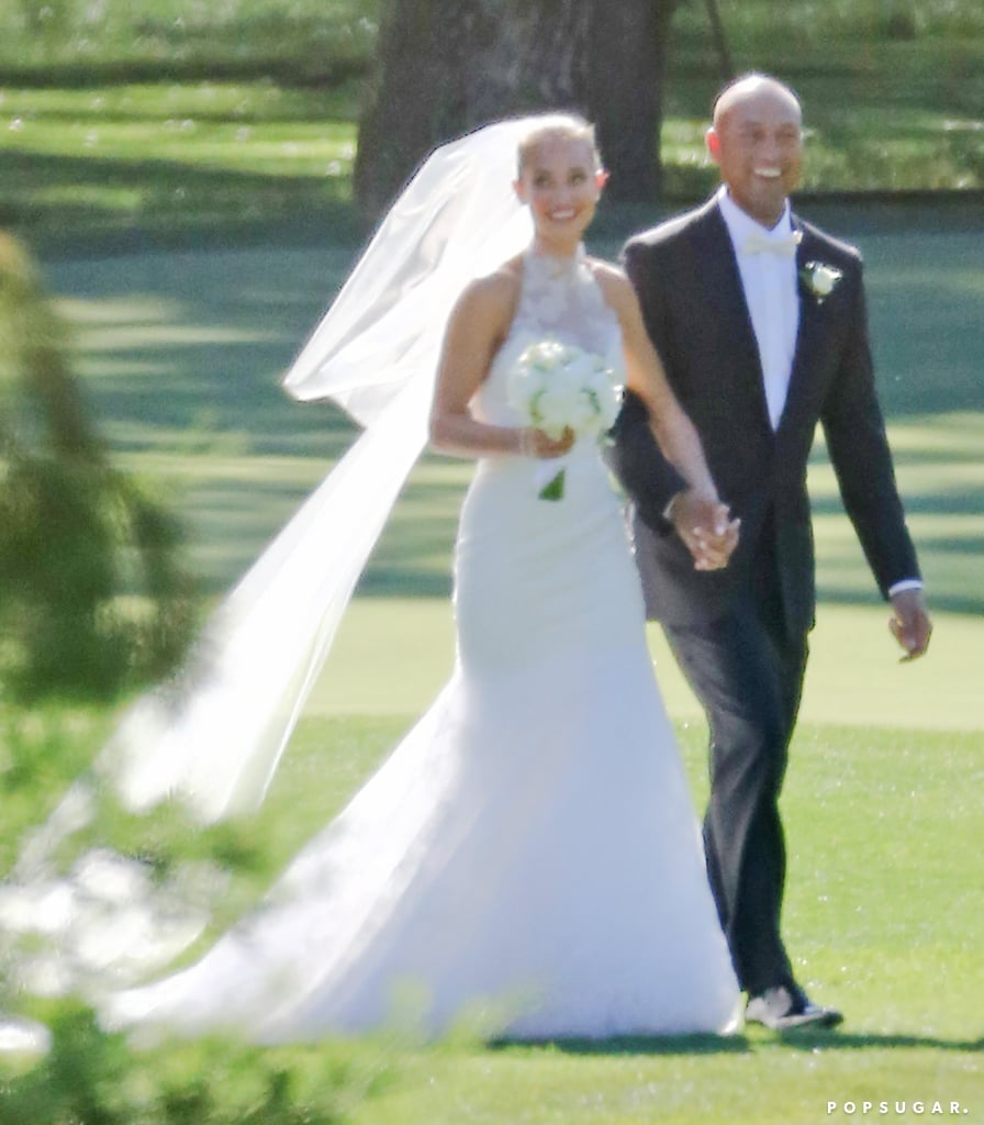 "Hannah Davis and Derek Jeter exchanged ""I dos"" in an intimate ceremony at the Meadowood Napa Valley Resort in St. Helena, CA, in July 2016."