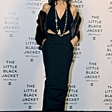 Carine Roitfeld went the pants route at Chanel's Little Black Jacket event in São Paulo.