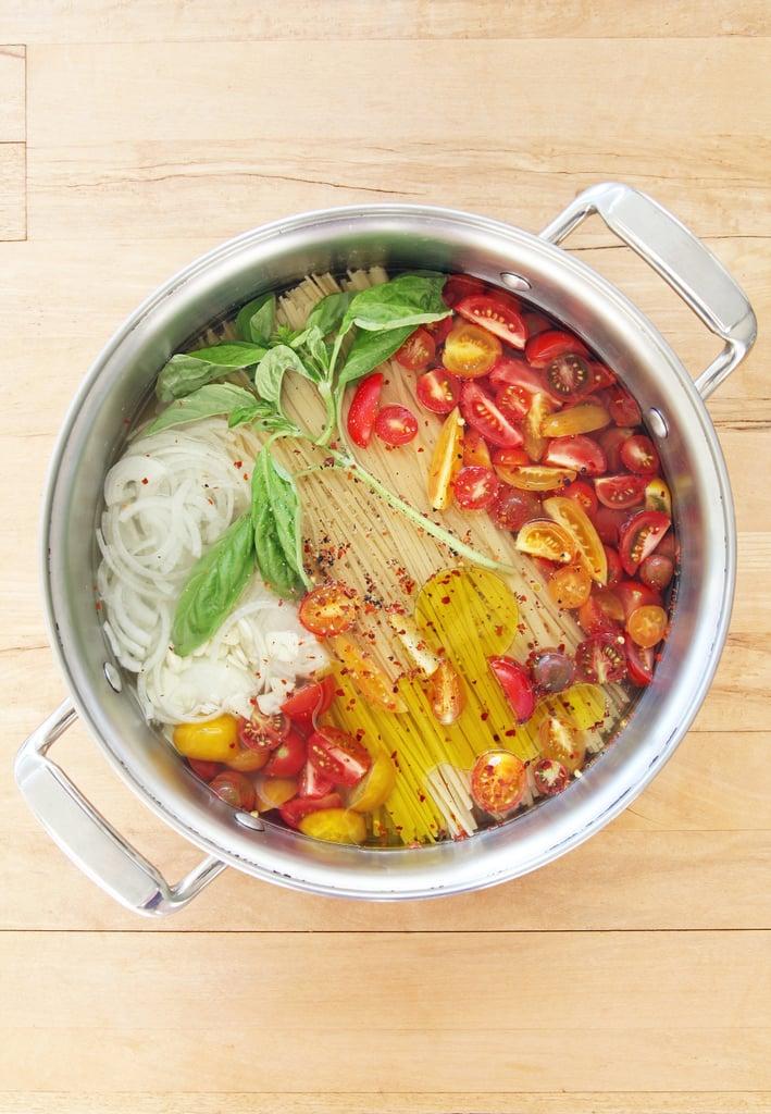 1-Pot Tomato Basil Spaghetti