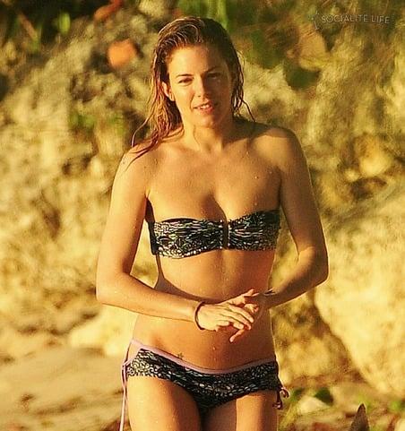 Sienna Miller spending her Holidays in Barbados