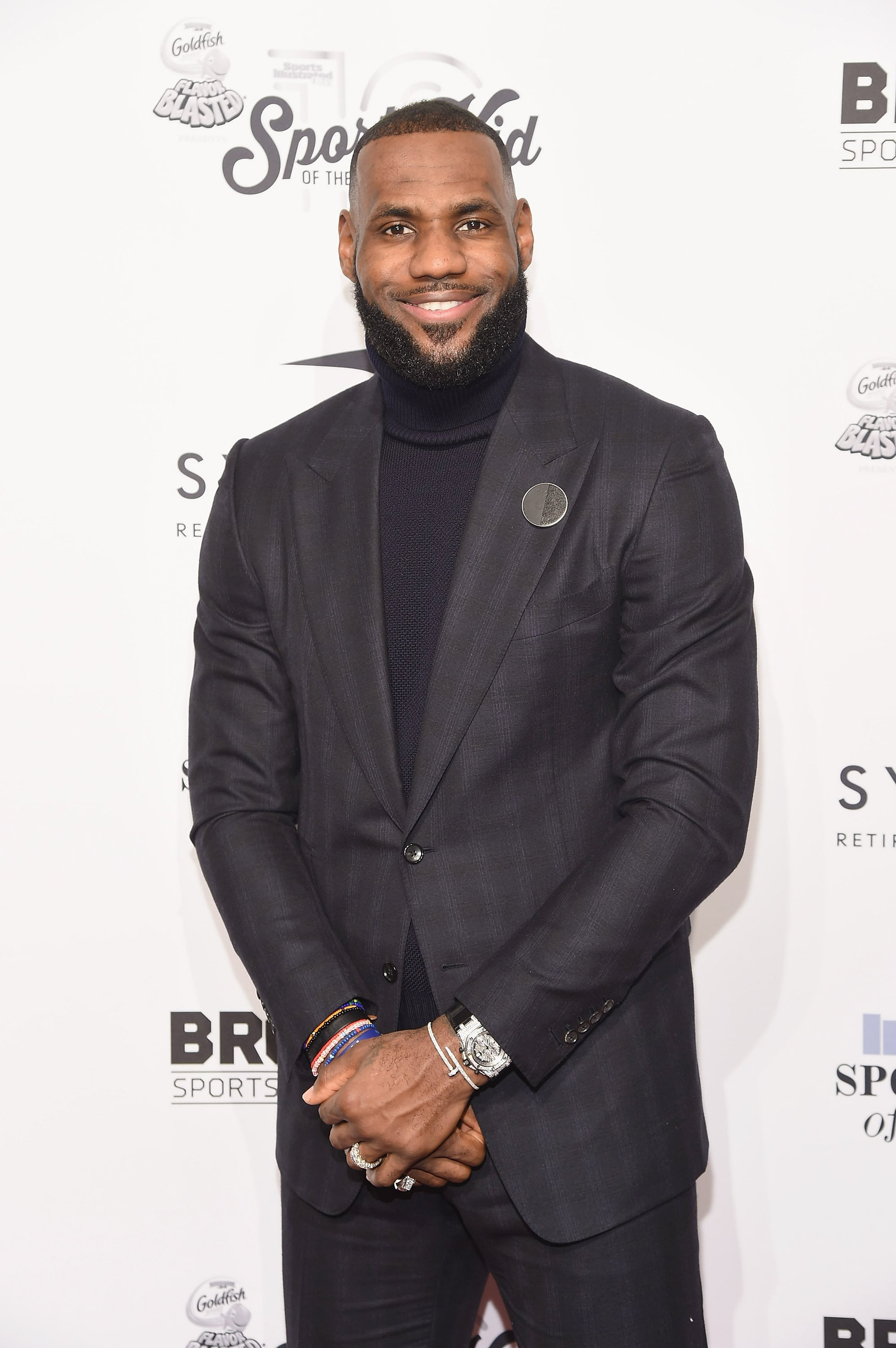 NEW YORK, NY - DECEMBER 12: Event honouree LeBron James attends the 2016 Sports Illustrated Sportsperson of the Year at Barclays Centre of Brooklyn on December 12, 2016 in the Brooklyn borough of New York City.  (Photo by Gary Gershoff/WireImage)