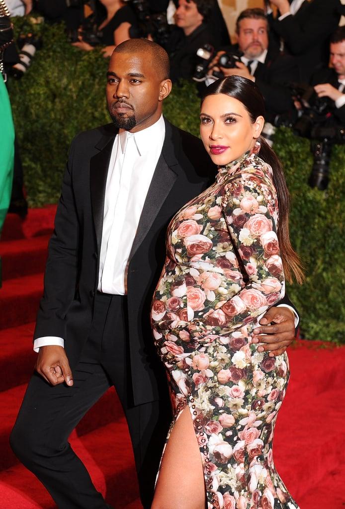 Kanye West had Kim Kardashian as his date.