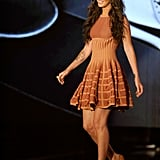 Megan Fox chose this copper dress for a VH1 appearance.